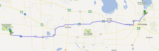 Carlyle to Selkirk, MB