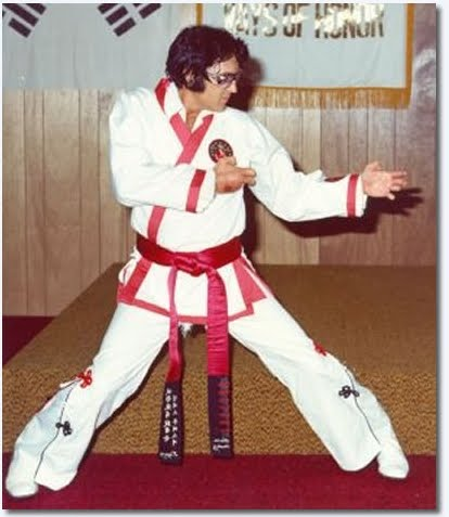 Elvis in Karate Gi