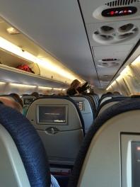 Nathen and Savanna on Plane